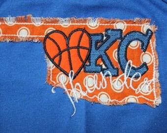OKC Thunder Basketball Blue Toddler T-Shirt