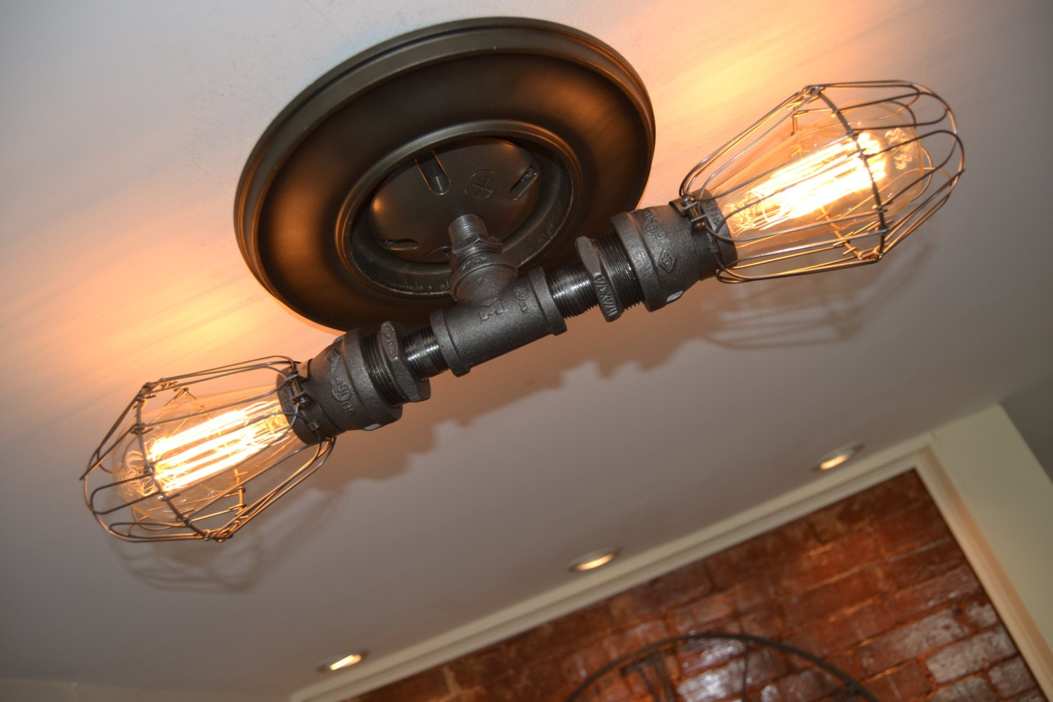 Ceiling light wall light old light industrial wall light for Pipes and lights