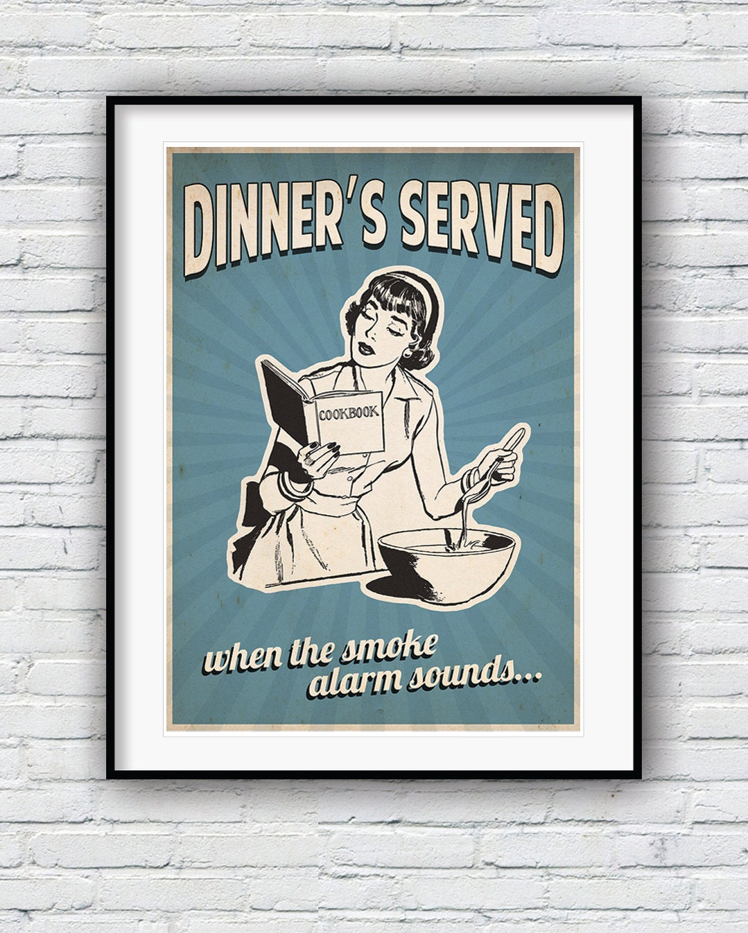 Kitchen Art 32cm: Retro Kitchen Decor Kitchen Art Funny Kitchen Poster