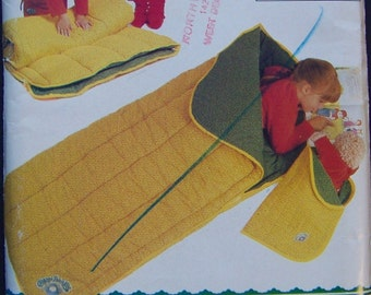 Cabbage Patch Sleeping Bag Pattern Slumber Bag for Doll Too UNCUT