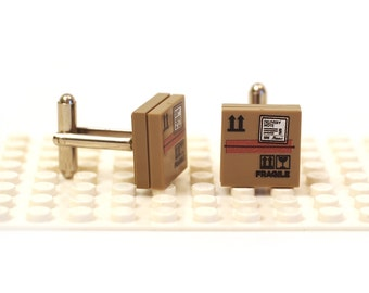 Package Special delivery cufflinks. Cufflinks made with LEGO(R) bricks.    Cuff links Cufflink Wedding gift