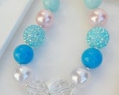 Cinderella Chunky necklace, Cinderella gumball necklace