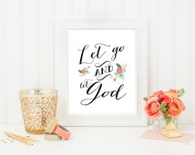 Let go & let God file- instant download-8x10