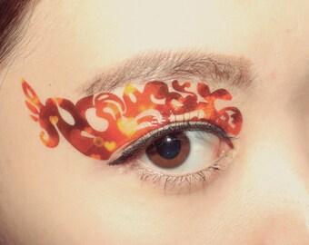 1 pair eye temporary tattoo makeup eyeshadow applique by for Eye temporary tattoo makeup