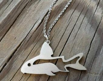 Corydora catfish charm necklace