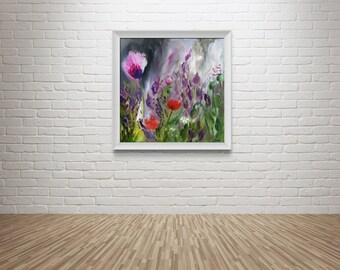 "Fine Art Print Flower Painting // ""Floral Fumes"""