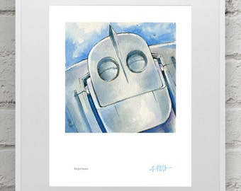 Iron Giant Print Set (4 8x10inch prints for 50 Dollars)