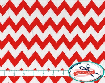 RED CHEVRON Fabric by the Yard, Fat Quarter Red & White Chevron Fabric Red Fabric Quilting Fabric 100% Cotton Fabric Apparel Fabric a3-40