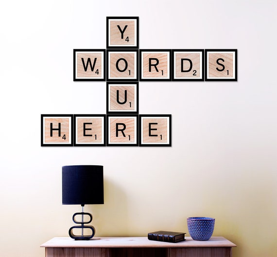Personalized Wall Decor Letters : Items similar to custom scrabble art home decor