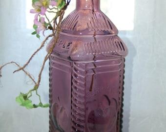 Berring's Phila Apple Bitters Bottle - Vintage Purple Amethyst Bottle - Wheaton, NJ Bottle