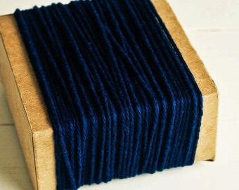 Thick Cotton Twine in Navy Blue - 10 Yards - Packaging Gift Wrapping String Cord Trim Ribbon Pretty Vintage Party Crafting Supply Decor