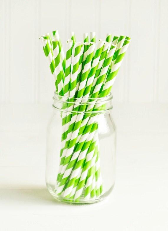 green paper straws Product - polka dot & striped paper straws, 825 in, lime green, 24ct product image genuine joe jumbo striped straws, 775 length, 12000 pack, gjo58944.