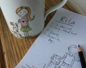 Customized illustration on a mug