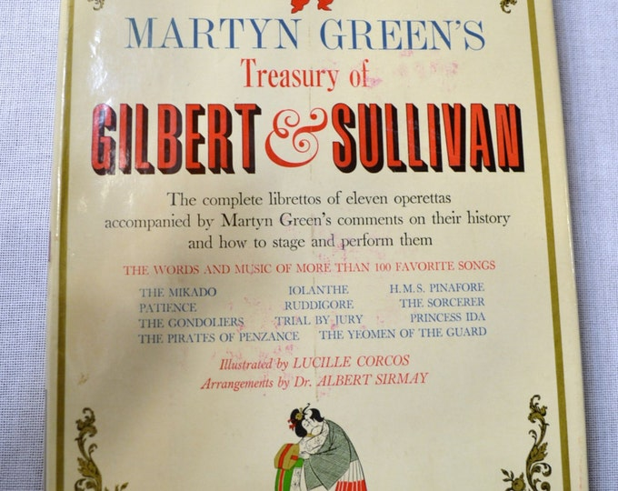Vintage Gilbert and Sullivan Book Martyn Green Music History Operettas PanchosPorch