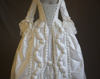 Custom Marie Antoinette Pearl Wedding Gown