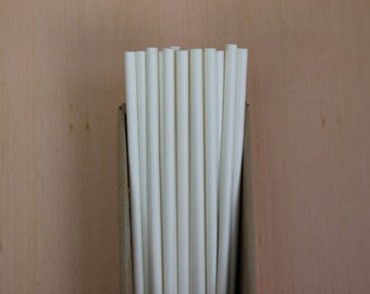 25 solid white straws (PS3000)  party straw