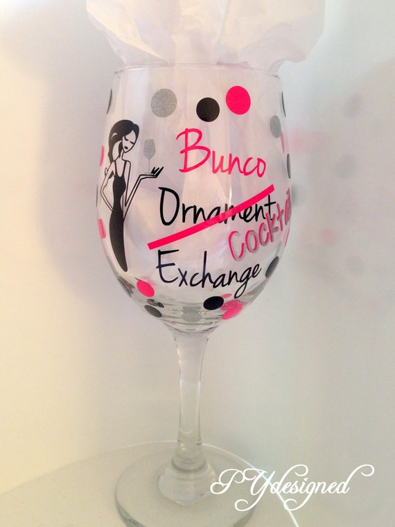 items similar to bunco ornament exchange cocktail wine