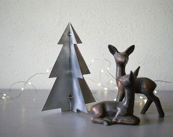 Metal Christmas Tree | Industrial Holiday Decor