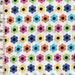 BTY Rainbow Retro Daisy Flowers - Janet G Gossard For Spectrix Fabrics Cotton Sewing Fabric - 2005 Out Of Print Quilting Fabric #25-04