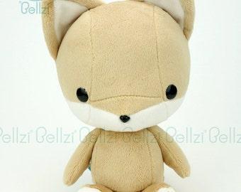 "Bellzi® Cute ""Brown"" w/ White Contrast Fox Plushie Doll - Foxxi"