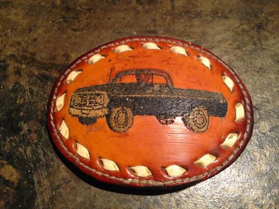 Vintage Leather Belt Vintage Leather Truck Belt