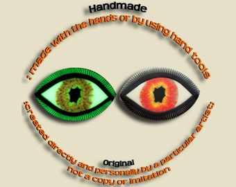 EyeGloArts Eyeballs Orange Glow in the dark Eye Pendant #EY202014
