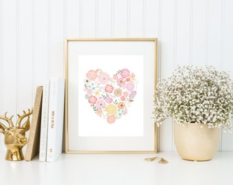 Floral Heart | 8x10 | Quote Print