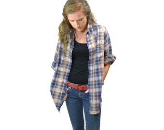 Popular items for heavy flannel on etsy for Heavy plaid flannel shirt