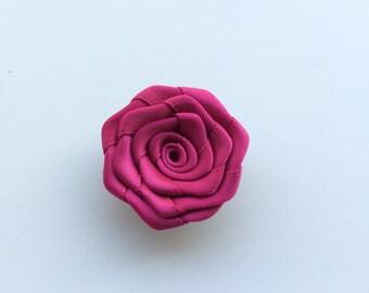 Fuschia flower lapel pin