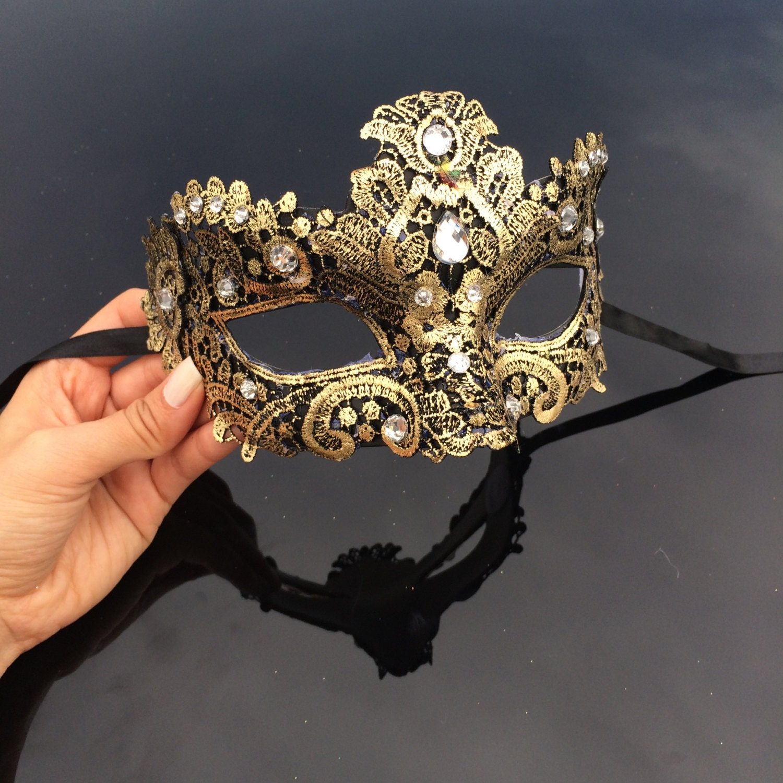 gold masquerade mask masquerade mask brocade lace mask