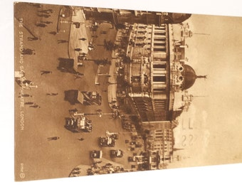 Vintage Postcard, The Strand and Gaiety Theatre, London 1926, Antique Postcard, Collectible Postcard, London Postcard