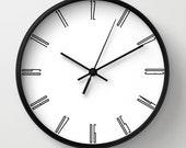 Tall numbers wall clock, minimalist decoration, classic wall clocks, black numbers, unique wall clock