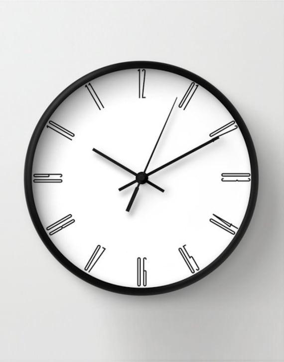 Tall numbers wall clock minimalist decoration classic wall – Minimalist Wall Clock