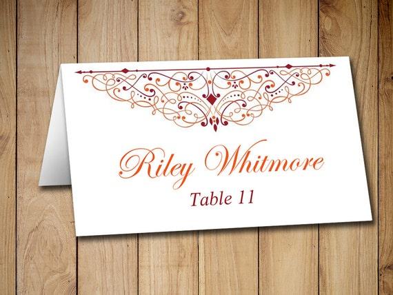 items similar to diy wedding place card template tent printable escort card template catalina