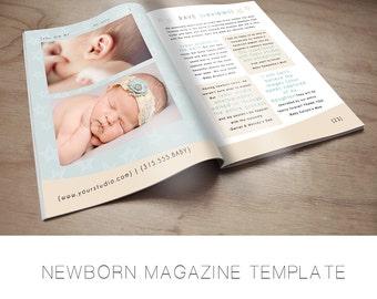 Newborn Photography Magazine Template - Photography Marketing Template - Text Included - Newborn Photography Template - Babies
