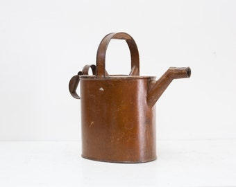Victorian Watering Can with Original Golden Brown Paint