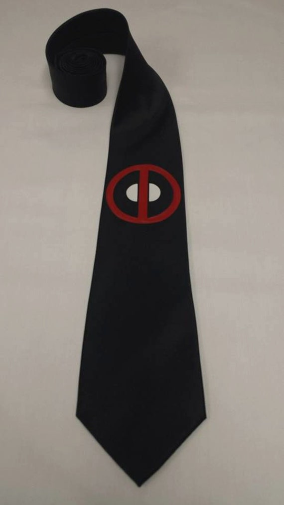 deadpool ii mens neck tie by pandorasproductions on etsy