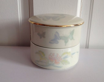 Trinket Box in Porcelain for Jewelry, Keepsake Box for Jewelry