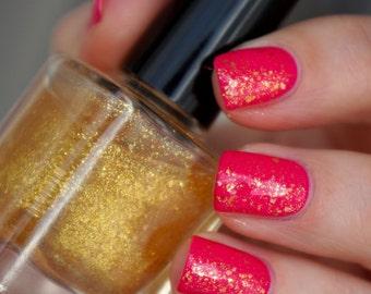 Glitter flakie nail polish - Gold Shine