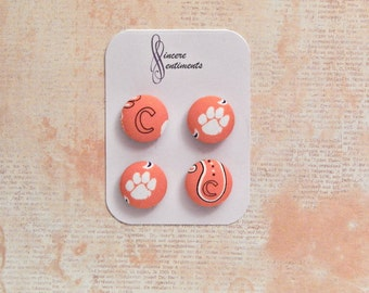 Clemson fabric magnets