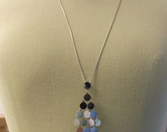 Sterling Silver Sequin Necklace