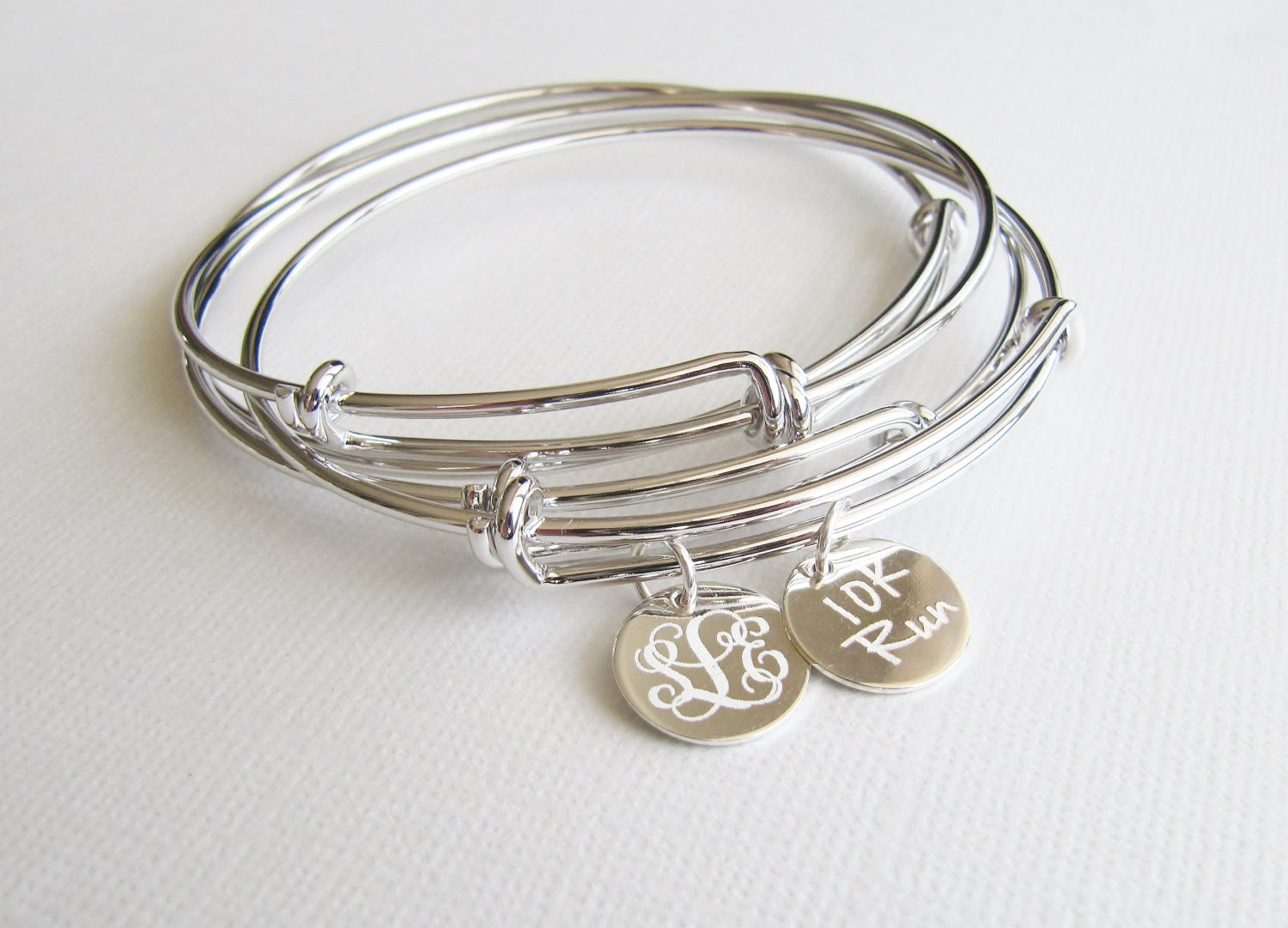 adjustable bangle bracelet personalized bracelet message. Black Bedroom Furniture Sets. Home Design Ideas