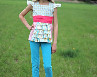 Tween and Girl's Ruffled Whimsy Dress Girls sizes 2T-16