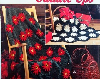 Christmas Cuddle-Ups Eight Afghans To Crochet Vintage Crochet Pattern Booklet 1990