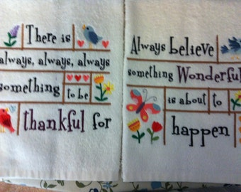 Happy & Inspiratiional Hand Towels