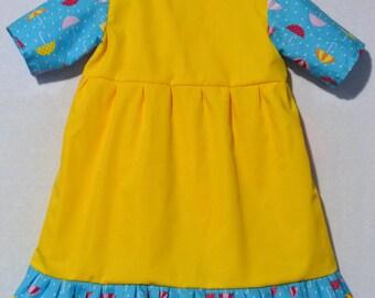 Girls Rain Rain Go-Away Umbrella Print dress