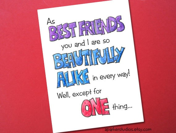 Best Friends Funny Birthday Card Birthday card for best – Best Friend Birthday Cards Funny