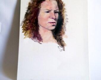 Amateur Oil on Canvas Portrait Painting no. 2