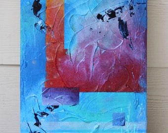 Sheerness of Blues Abstract Painting