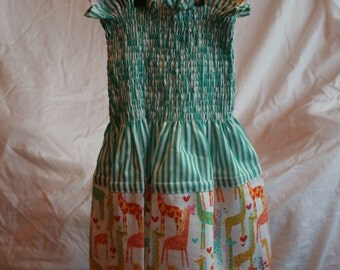 Shirred Bodice Ruffle Dress Aged 18 months to 2 years